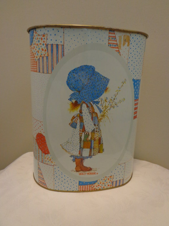 Holly hobbie trash can garbage can waste basket holly hobbie for Bedroom waste baskets decorative