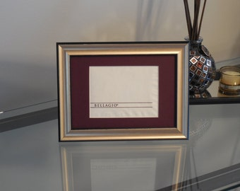Bellagio Las Vegas 5x7 Authentic Napkin Display Matted FRAMED NF3301