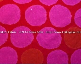 FuwaFuwa Dots in Fuschia by Keiko Goke Half Yard