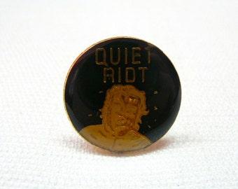 Vintage Early 80s Quiet Riot / Metal Health Album / Enamel Pin / Button / Badge - Heavy Metal Collectibles