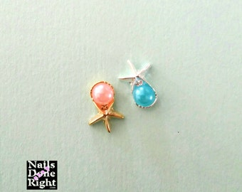 Pearl Starfish Nail Charm in Gold & Silver