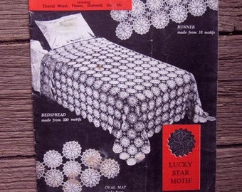 PARAGON CROCHET MOTIFS Book 109 1940s