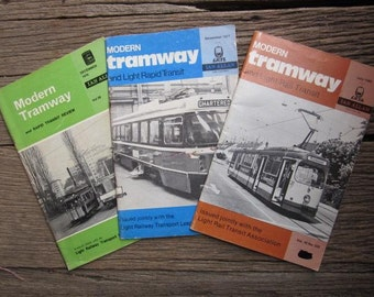 1977 3 x Issues MODERN TRAMWAY And Light Rail Transit 1982 Vintage Magazines Booklets