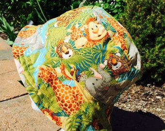 Zoo animals Reversible Bucket Hat. Sun Hat. Summer Hat. Beach Hat. Animal print hat.