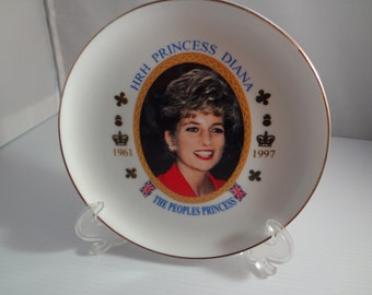 Princess Diana Plate, Princess of Wales British Royalty Princess Diana Collectibles Queen of Hearts Prince William Mother  British Royals