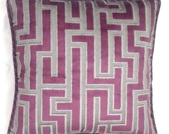 Geometric pillow - velvet pillow - luxury pillow - designer pillow