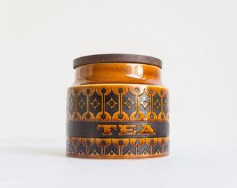 Hornsea Heirloom Tea Canister - Brown Black Geometric