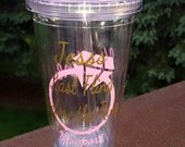 Personalized Tumbler - Last Fling Before the Ring - Wedding Party, Bachelorette Party, Special Occasion - BPA Free - 16oz - Straw