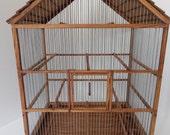 Bird Cage Wooden Handmade