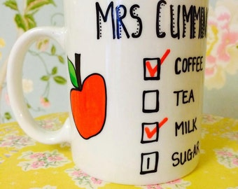 Teacher's Mug Hand Painted