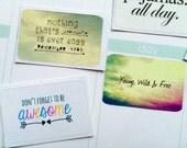 A13 Erin Condren Quote Stickers, ECLP Half Box Sticker, Motivational Stickers, Inspirational Stickers, Planner Stickers, Craft Stickers