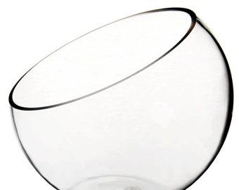 Wholesale Pack of 8 pcs Plant Terrarium Glass Half Slope Pod Vase for Plant Terrarium #GCU063