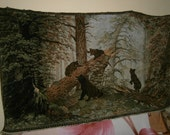 German vintage wool CARPET from the PAINTING by SHISHKIN 230 cm 130cm
