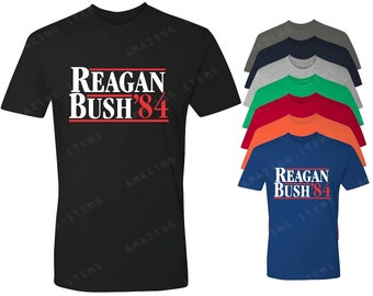 Reagan Bush '84 Men's T-shirt Political Shirts