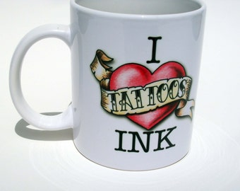 Tattoo Lover Coffee Mug, Coffee Mug With Tattoo