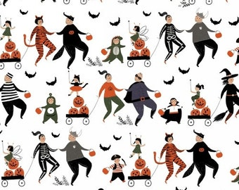 Mischief Night, Trick or Treat Halloween Fabric from by Dinara Mirtalipova from Windham Fabrics, Trick or Treaters