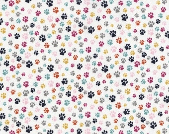 The Cat's Meow, Cat Paw Print Fabric, Yardage from Dear Stella