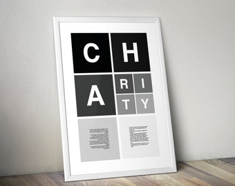 Helvetica Poster | Charity | No Color