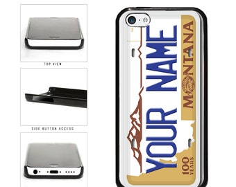 Personalized Montana License Plate Phone Case - iPhone 4 4s 5 5s 5c 6 6 Plus iPod Touch