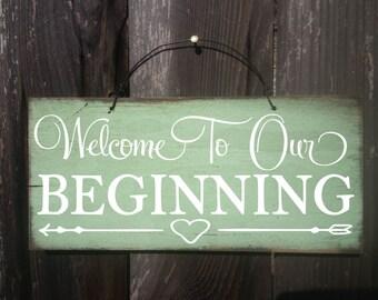 wedding welcome sign, wedding decor, wedding decoration, welcome to our wedding sign, rustic wedding sign, rustic wedding decor