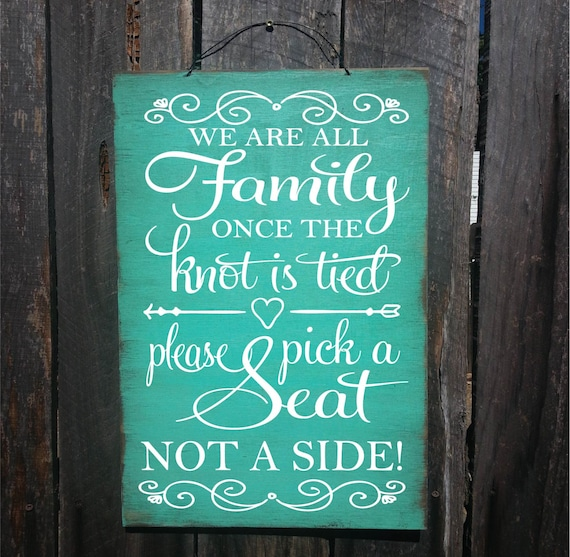 wedding sign, pick a seat sign, pick a seat not a side, wedding decoration, wedding decor, rustic wedding decor, rustic wedding, 154