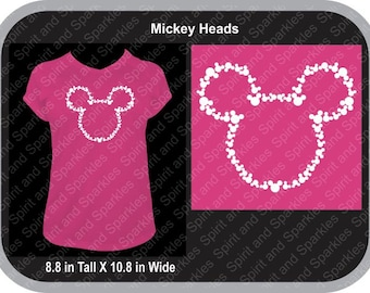 Mickey Heads T-Shirt, Tank or Hoodie