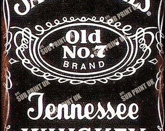 "Jack Daniels Retro Metal Sign  Size 10"" x 6.5"" (254mm x 170mm)"""