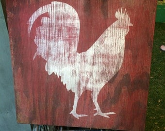 Rustic Rooster Sign