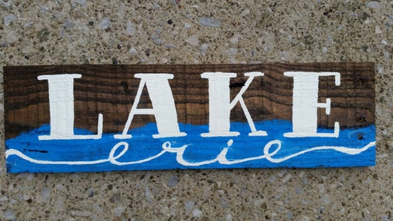 Rustic Pallet Lake Sign Recycled Lake Sign Reclaimed Wood