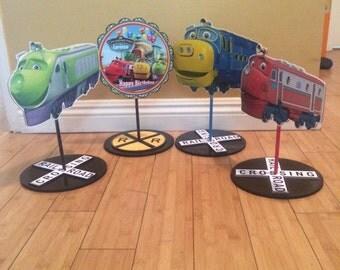 Chuggington Inspired Character Centerpiece, Wilson, Brewster, Koko Trains