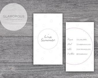 Business card / business card - Lina circle