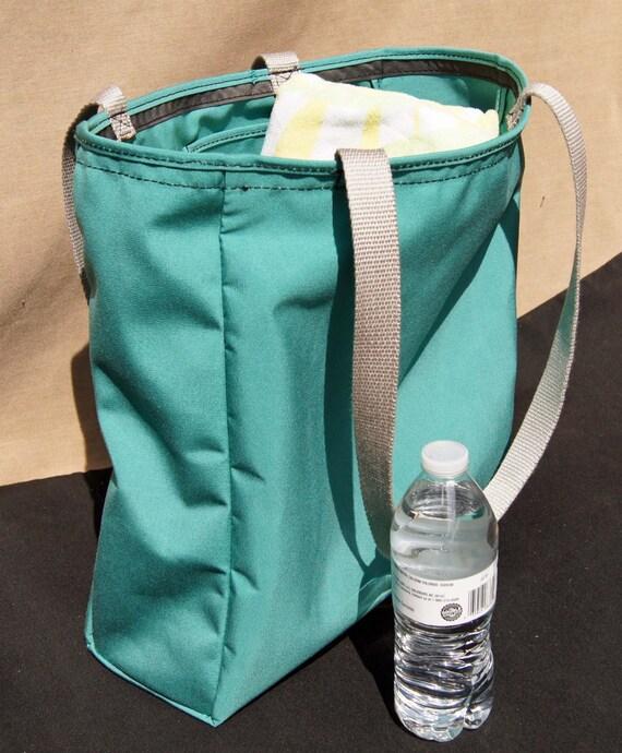 sunbrella bag green canvas boat bag zipper handmade