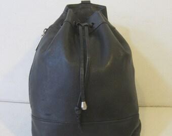 """VALERIE STEVENS Backpack 10.5""""x10.5""""x5.5"""" Hipster Hippie Leather Shoulder Bag Vintage Bag324"""