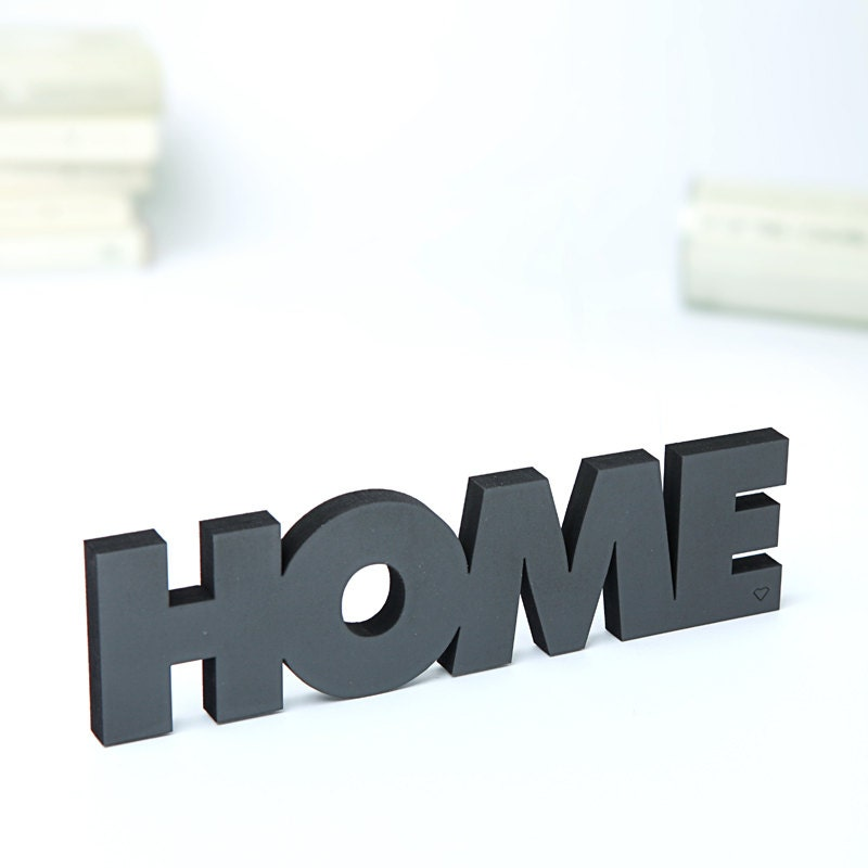 home 3d schriftzug holz wanddeko. Black Bedroom Furniture Sets. Home Design Ideas