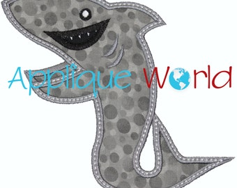Shark Standing Applique Embroidery