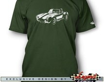 AC Cobra Replica T-Shirt for Men - In the Spotlights - Multiple colors available, Size: S - 3XL, Great AC Cobra & Replica Gift, Legend Lines