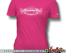 AC Shelby Cobra 427 Hawaiian Style T-Shirt for Women - Ladies Size: S - 2XL, Multiple colors available - American Car Gift by Legend Lines