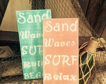 Beach signs. Pool signs. Nautical sign  Distressed wooden sign Beach decor. Pool decor. Rustic style beach decor. Distressed beach signs