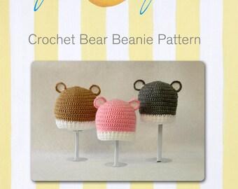 Super Cute Crochet Bear beanie/hat Pattern