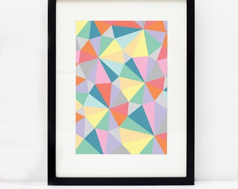 Geometric home art print (various colours)