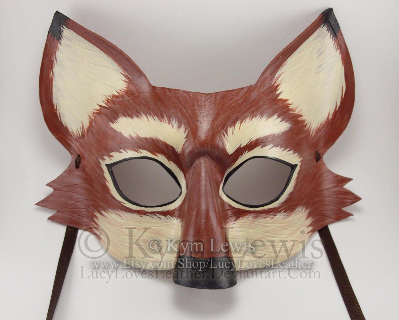 Fox Mask Masquerade Mask Masked Ball Animal Mask Handmade