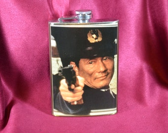 Beat Takeshi - 8 oz stainless steel flask (RN 1847)