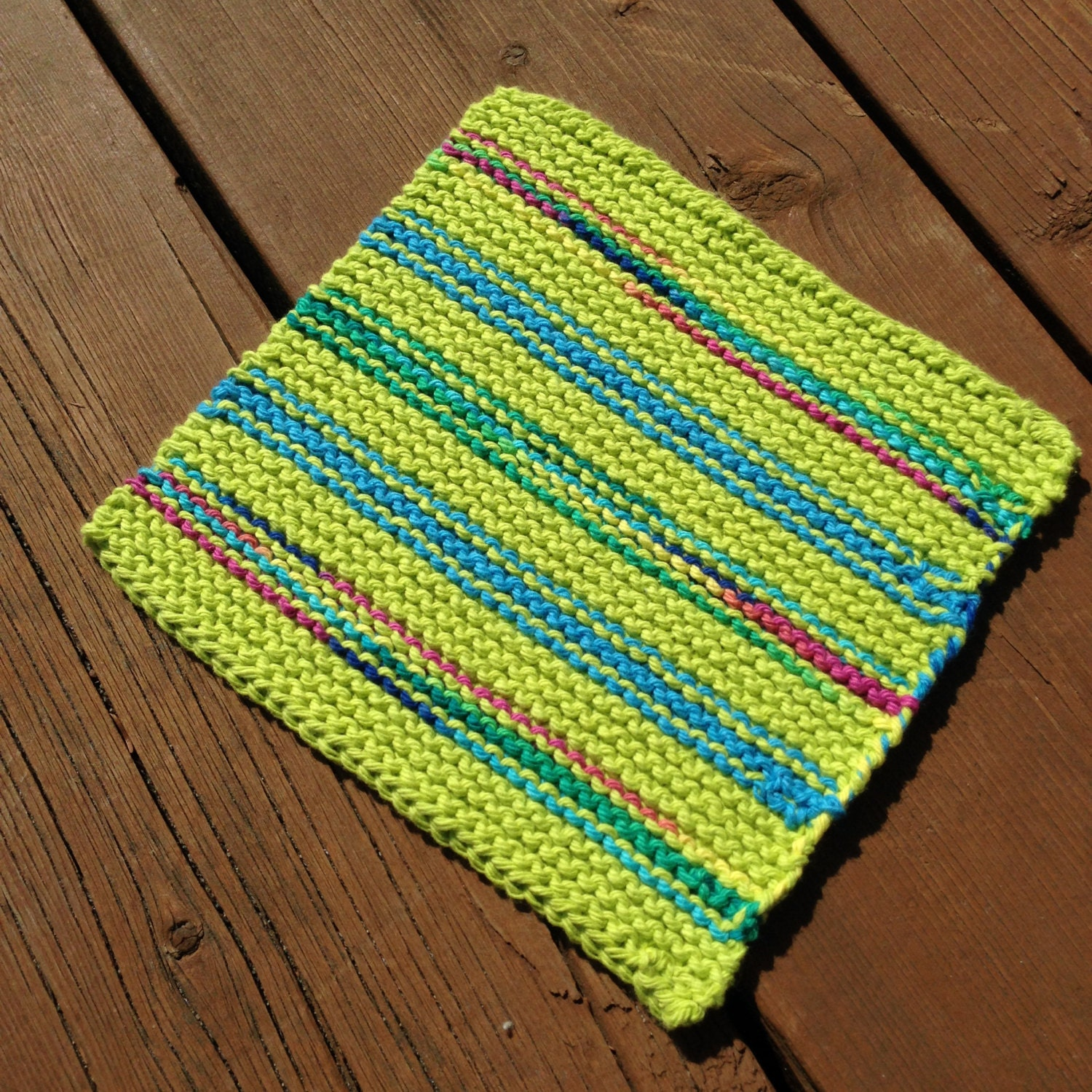 Dishcloth Knitted Dishcloth Cotton Dishcloth Washcloth by Bahde