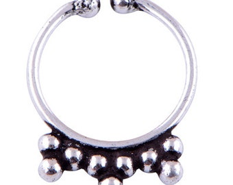925 Nose Eye Ring, Silver fake nose ring, Fake Septum Ring,  Faux Septum Ring , Silver Septum For Non Pierced Nose OR EYE