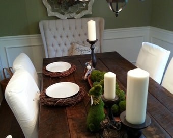 Rustic Farmhouse Dining Table with Reclaimed Barn Wood