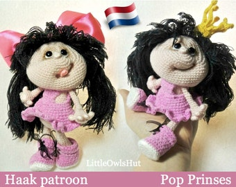 041NLY Pop Prinses - Amigurumi Haakpatroon - PDF by Pertseva Etsy