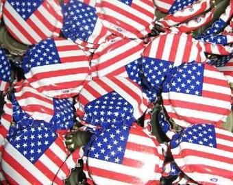 Beer Bottle Crown Caps - American Flag (144 Count)