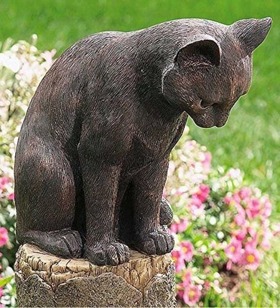 chat et souris tanche sculpture accueil d cor par artmargarita. Black Bedroom Furniture Sets. Home Design Ideas