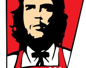Che Guevara KFC che-fc Spoof T SHIRT