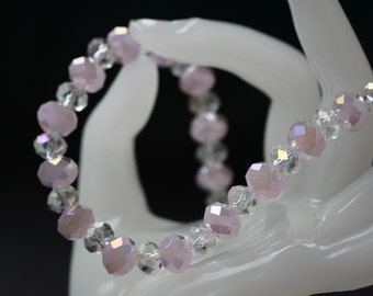 Baby Pink Faceted Necklace